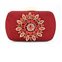 ieftine Seturi Genți-Pentru femei Genți PVC Geantă Seară Detalii Cristal Roșu-aprins