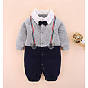 cheap Baby Boys' One-Piece-Baby Boys' Basic Color Block Long Sleeve Cotton Overall & Jumpsuit / Toddler