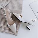 povoljno Ženske sandale-Žene Cipele Mekana koža Ljeto Udobne cipele Sandale Kockasta potpetica Zatvorena Toe Obala / Žutomrk