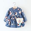 tanie Topy dla niemowląt-Dziecko Dla dziewczynek Aktywny Geometryczny Długi rękaw Bawełna Sukienka / Brzdąc