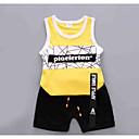 ieftine Set Îmbrăcăminte Băieți Bebeluși-Bebelus Unisex Dungi / Bloc Culoare Fără manșon Set Îmbrăcăminte