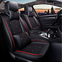 cheap Steering Wheel Covers-ODEER Car Seat Cushions Seat Covers Black Textile Common for universal All years All Models