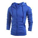 tanie Zestawy narzędzi-Męskie Moda miejska Długi rękaw Bluza z Kapturem - Solidne kolory Kaptur