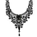 povoljno Modne narukvice-Žene Sektor Y Ogrlica - Čipka Cvijet Moda Crn 42 cm Ogrlice Jewelry 1pc Za Dnevno