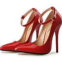 ieftine Tocuri de Damă-Pentru femei Pantofi PU Toamna iarna Balerini Basic Tocuri Toc Stilat Vârf ascuțit Cataramă Negru / Rosu / Nuntă / Party & Seară