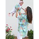 ieftine Set Îmbrăcăminte De Familie-Adulți Mama și cu mine Floral Manșon scurt Bluză