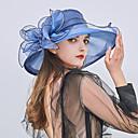 abordables Tocados de Fiesta-Mujer Volante Sombrero Playero / Sombrero Floppy / Sombrero de Paja - Fiesta / Vacaciones Retazos