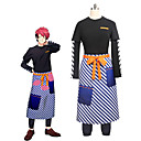 cheap Anime Costumes-Inspired by Cosplay Cosplay Anime Cosplay Costumes Cosplay Suits Other Long Sleeve Top / Pants / Apron For Unisex