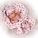 זול בובות-NPKCOLLECTION בובה מחדש תינוקות בנים / תינוקות בנות 12 אִינְטשׁ גוף מלא סיליקון / סיליקון / ויניל - כְּמוֹ בַּחַיִים, עיניים מלאכותיות עיניים חומות הילד של יוניסקס מתנות