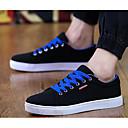 זול סניקרס לגברים-בגדי ריקוד גברים סוויד קיץ נוחות נעלי ספורט שחור לבן / שחור אדום / שחור / כחול