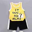 ieftine Top Bebeluși-Bebelus Unisex Imprimeu / Bloc Culoare Fără manșon Set Îmbrăcăminte