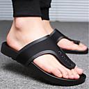 ieftine Șlapi Bărbați & Flip-Flops-Bărbați PU Vară Confortabili Papuci & Flip-flops Negru