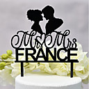 cheap Cake Toppers-Cake Topper Classic Theme / Wedding New / Hollow Acryic / Polyester Wedding / Anniversary with Acrylic 1 pcs OPP