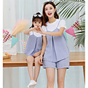 ieftine Set Îmbrăcăminte De Familie-Adulți Familie Uite Activ Dungi Manșon scurt Set Îmbrăcăminte