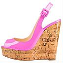 ieftine Sandale de Damă-Pentru femei Pantofi PU Vară Confortabili / Balerini Basic Sandale Creepers Alb / Gri / Fucsia