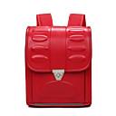 זול Elementary Backpacks-יוניסקס שקיות PU תיק לבית הספר כפתורים פול / אודם