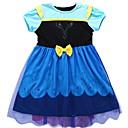 abordables Robes pour Filles-Bébé Fille Basique Couleur Pleine Sans Manches / Manches Courtes Robe Bleu