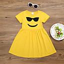 tanie Sukienki dla dziewczynek-Dzieci / Brzdąc Dla dziewczynek Aktywny / Śłodkie Kreskówki Nadruk Krótki rękaw Sukienka Czarny 100