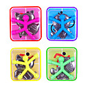 cheap Models & Model Kits-10 pcs Magnet Toy Mini Q-Man Magnet Cute Rubber Magnet Men Building Blocks Silicone Office Desk Toys Magnetic Kid's Boys' Girls' Toy Gift