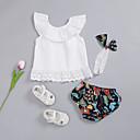 ieftine Set Îmbrăcăminte Bebeluși-Bebelus Fete Activ / De Bază Mată / Floral Fără manșon Scurt Bumbac Set Îmbrăcăminte / Copil