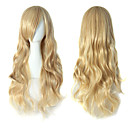 cheap Anime Cosplay Wigs-Cosplay Suits / Synthetic Wig Wavy Blonde Side Part 150% Density Synthetic Hair Party / Women / Sexy Lady Blonde Wig Women's Very Long Capless / African American Wig