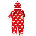 ieftine Top Bebeluși-Bebelus Fete De Bază Buline De Bază Manșon Lung Bumbac Salopetă Roșu-aprins 60 / Copil