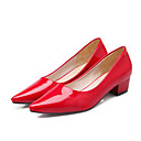 cheap Halloween & Carnival Costumes-Women's Patent Leather Spring & Summer Basic Pump Heels Chunky Heel Pointed Toe Red / Green / Blue / Daily