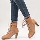 ieftine Mocasini de Damă-Pentru femei Pantofi PU Toamna iarna Cizme la Modă Cizme Toc Îndesat Vârf ascuțit Cizme / Cizme la Gleznă Ținte Negru / Galben