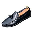 cheap Floral/Botanical Paintings-Men's Moccasin PU(Polyurethane) Spring Loafers & Slip-Ons Black / Orange / Army Green