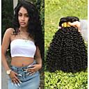 voordelige Weaves van echt haar-3 bundels Maleisisch haar Kinky Curly 8A Echt haar Niet verwerkt Menselijk Haar Menselijk haar weeft Haarverzorging Bundle Hair 8-28 inch(es) Natuurlijke Kleur Menselijk haar weeft Glad Dik Voor