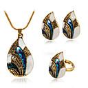 abordables Pulseras-Mujer Escultura Conjunto de joyas Gota Vintage, Europeo, Moda Incluir Collar Pendiente Anillo Dorado / Plata Para Diario / Pendientes