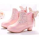 זול נעלי ילדות-בנות נעליים סינטטיים קיץ & אביב נוחות / מגפיים אופנתיים מגפיים ל לבן / ורוד
