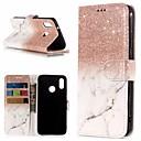 ieftine Cazuri telefon & Protectoare Ecran-Maska Pentru Huawei P20 / P20 lite Portofel / Titluar Card / Cu Stand Carcasă Telefon Marmură Greu PU piele pentru Huawei P20 / Huawei P20 Pro / Huawei P20 lite