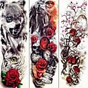 Недорогие Временные татуировки-3 pcs Временные татуировки Тату с животными / Тату с цветами Гладкий стикер / Экологичные / Одноразового использования Искусство тела рука / Временные татуировки в стиле деколь