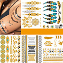 cheap Temporary Tattoos-5 pcs Tattoo Stickers Temporary Tattoos Fashion Punk Body Arts Body / Arm