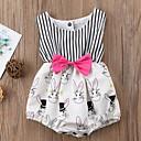 ieftine Set Îmbrăcăminte Bebeluși-Bebelus Fete Șic Stradă Dungi Fără manșon Bumbac bodysuit / Copil