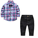 cheap Latin Shoes-Kids / Toddler Boys' Color Block Long Sleeve Clothing Set