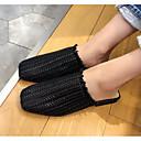 ieftine Sandale de Damă-Pentru femei Pantofi PU Vară Confortabili / Pantof cu Berete Saboți Toc Drept Alb / Negru / Maro