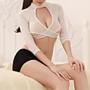 povoljno Seksi kostimi-Žene Izrezati Sexy Seksi spavaćica / kineska haljina / Odijelo Noćno rublje Jednobojni Obala L XL XXL / Uski okrugli izrez
