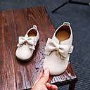 povoljno Cipele za djevojčice-Djevojčice Cipele PU Proljeće ljeto Udobne cipele / Obuća za male djeveruše Ravne cipele Hodanje Mašnica za Dijete koje je tek prohodalo Crn / Bež / Pink