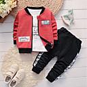 ieftine Pantaloni Băieți-Bebelus Băieți Casual / De Bază Zilnic / Sport Negru & Roșu Jacquard Brodat Manșon Lung Regular Regular Bumbac / In Set Îmbrăcăminte Trifoi 100 / Copil