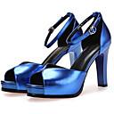 ieftine Ghete de Damă-Pentru femei Pantofi Piele Vară Confortabili Sandale Toc Îndesat Argintiu / Albastru / Roz