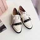 cheap Women's Flats-Women's Shoes Patent Leather Spring / Summer Comfort Flats Flat Heel Round Toe White / Black