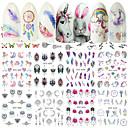 abordables Nail Art de Navidad-40 pcs Adhesivos arte de uñas Manicura pedicura Creativo Calcomanías de uñas Ropa Cotidiana / Festival