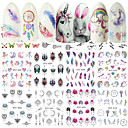 billige Negle Sticker-40 pcs Klistermærker Negle kunst Manicure Pedicure Kreativ Negle Dekaler Dagligdagstøj / Festival
