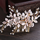 cheap Party Headpieces-Rhinestone / Alloy Hair Combs / Hair Stick / Hair Accessory with Rhinestone / Floral 1 Piece Wedding / Party / Evening Headpiece