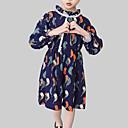 povoljno Haljine za djevojčice-Djeca Djevojčice Ulični šik Dnevno / Izlasci Kolaž Vezanje straga / Print Dugih rukava Umjetna svila Haljina Red 140