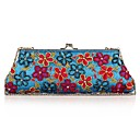 cheap Clutches & Evening Bags-Women's Bags Polyester Evening Bag Crystals / Flower Embroidery Blushing Pink / Fuchsia / Brown