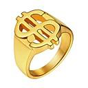 baratos Anéis para Homens-Homens Anel - Aço Inoxidável Clássico 7 / 8 / 9 Dourado / Preto / Prata Para Presente / Diário