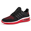 cheap Men's Sneakers-Men's PU(Polyurethane) / Elastic Fabric Fall Comfort Athletic Shoes Running Shoes Color Block Black / Gray / Black / Red